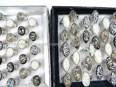 US SELLER- 15pcs vintage chunky seashell ring fashion jewelry accessories bulk