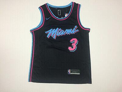 Miami Heat Dwyane Wade #3 Black Swingman Men's Jersey - Brand New