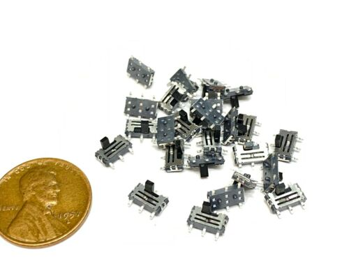 25 Pieces slide switch MSS-22C01 2P2T DPDT 2 Poles 6 Pins SMD Terminal Mini  E17