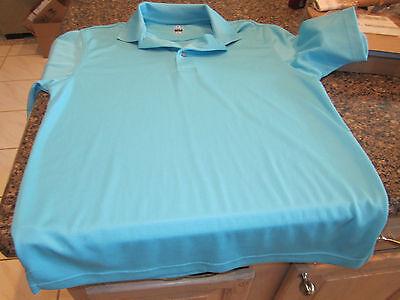 Pga Tour Golf Polo Shirt   Teal Blue   Small