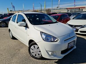 2016 Mitsubishi Mirage LA MY15 ES White Continuous Variable Automatic Hatchback 1.2L Petrol Cannington Canning Area Preview
