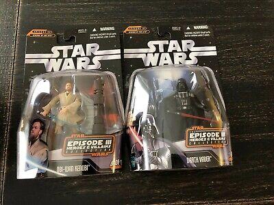 Star Wars Episode 3 Heroes And Villains Obi Wan Kenobi and Darth Vader Figures](Darth Vader Episode 3)
