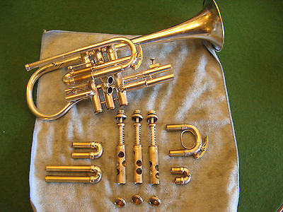 Franz Weber New Boston Model Cornet Bb & A with Case & Mouthpiece - Lovely Horn!