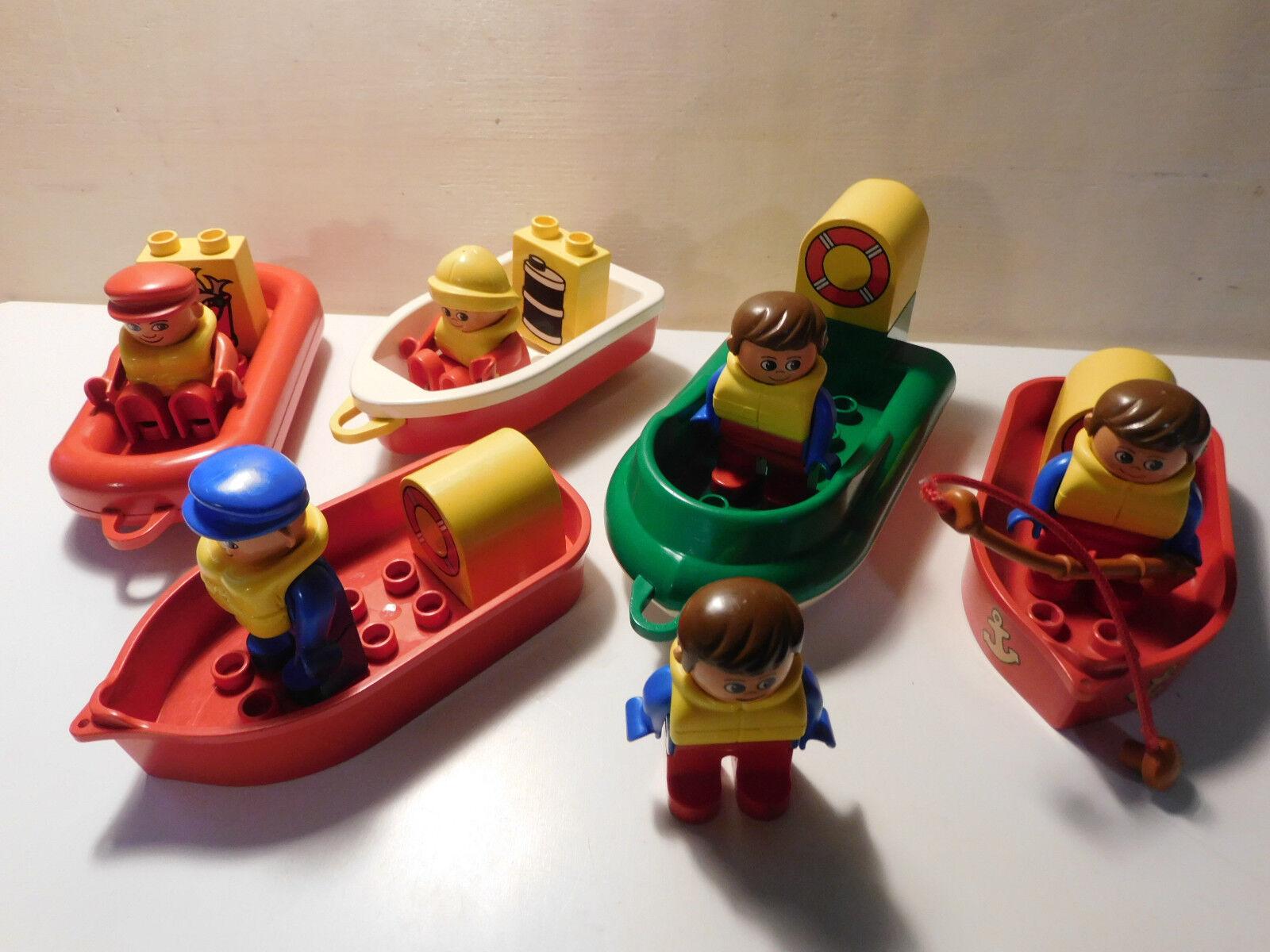 LEGO Duplo - Fischerboot Schiff  Figur Seemann Schlauchboot Angler - auswählen