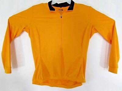 355492795 REI USA Made Hi Viz Yellow Long Sleeve Cycling Bike Jersey L