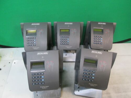 (QTY. 5) Schlage HK-II HandKey II Recognition Systems Biometric Reader