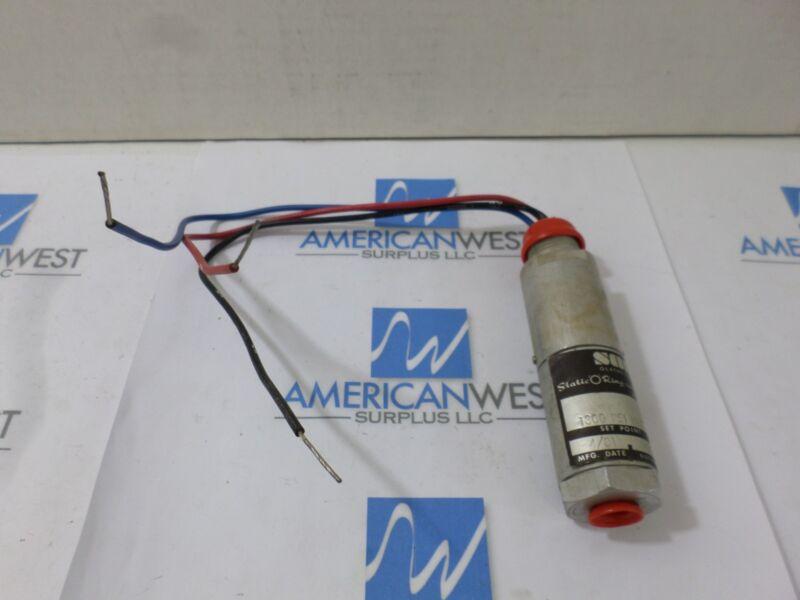 SOR Pressure Switch 1300 PSI   model 6701-449  2500-6000