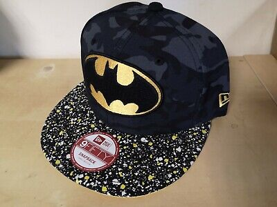 A23 NEW ERA OFFICIAL 9FIFTY Snapback Baseball Cap * BATMAN Camo Speckle * S/M