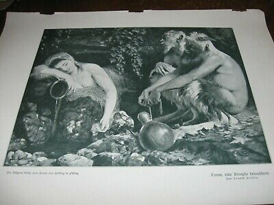 PAINTING SURREAL FANTASY HORROR PLAGUE BOCKLIN WEIRD FRAMED ART PRINT B12X12586