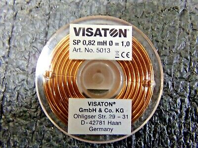 Visaton 5013 Inductor Air Coil 0.82mh 0.52 48mm H 18mm Core 1mm Dc