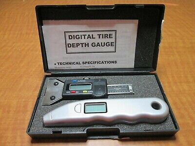 Digital Pressure Type Tread Gauge Digital Caliper Micrometer Tire Depth Kit