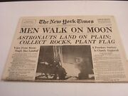 Man Walks on The Moon Newspaper
