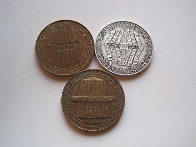 Lot 3x Münze Wien, Kalendermedaillen 1968,1971,1975/ Bronze 40mm,22gr.