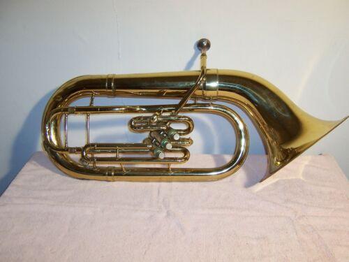 Vintage Holton 185 Three Valve Baritone Horn & Case Elkhorn Wisconsin