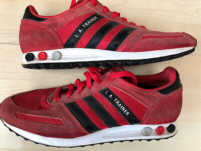 Vintage Adidas Originals LA Trainers Pumps Size 8 Retro Red Rare Retro Casual