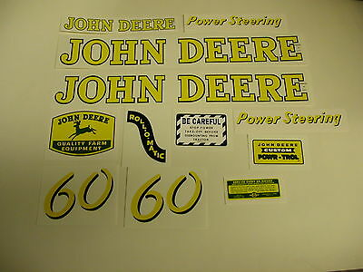 John Deere Model 60 Tractor Decal Set - New Free Shipping