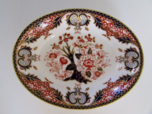 "Royal Crown Derby ""Imari Kings"" 10.4"" Oval Serving Bowl"