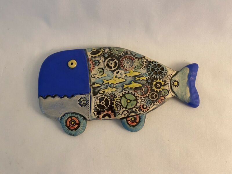 Ceramic Wall Art Whale