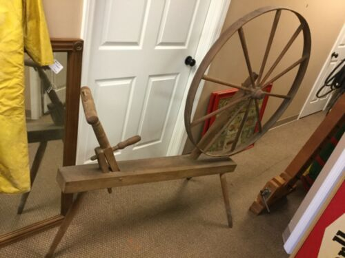 "Antique Walking Spinning Wheel (39"" Wheel) - Excellent (MAR20)"