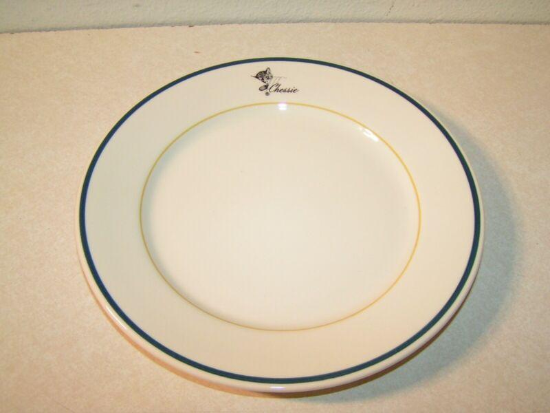 Modern Chesapeake & Ohio Railroad China Dinner Plate in the Chessie Pattern