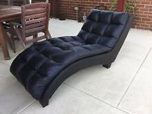 Chaise lounge faux leather  One of the square padded pieces is de Kewdale Belmont Area Preview