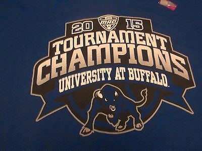 BUFFALO BULLS 2015 MAC TOURNAMENT MEN BASKETBALL CHAMPIONS T-SHIRT-XL NEW NWOT -