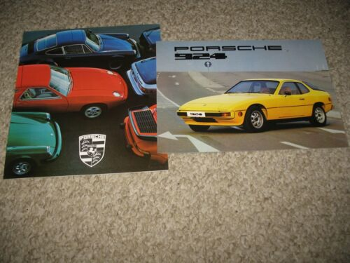 Porsche brochures (2) full line and 924 from circa 1976 - 77 printed in Germany