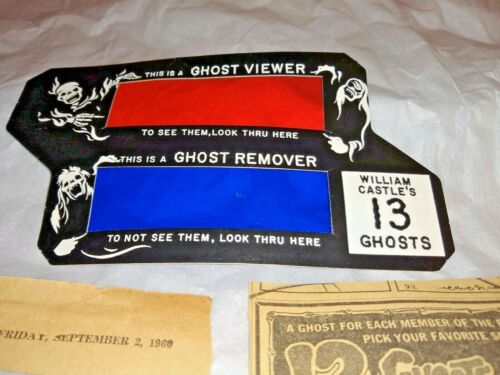 1960 WILLIAM CASTLE 13 GHOSTS HORROR MOVIE GHOST VIEWER & REMOVER, ORIGINAL 1960
