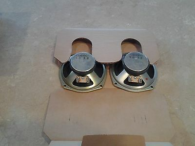 "Delco 5"" Speakers-PAIR(2)-73B5996H ++ Audiovox speaker Covers-6.5x6.5 -NEW-"