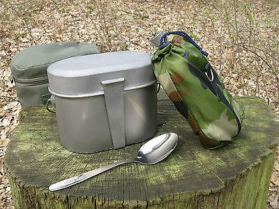4-teiliges Camping / Armee Feldgeschirr, Kochgeschirr aus TITAN (Russland)