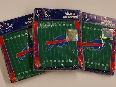 Buffalo Bills Coaster - NFL Buffalo Bills Foam Coasters (10 coasters) NEW