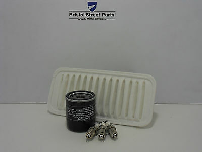 FOR Peugeot 107 1.0 Service Kit Oil, Air,Filters and 3* Spark Plugs