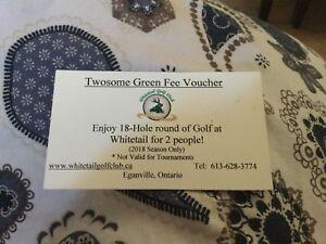 Whitetail golf pass
