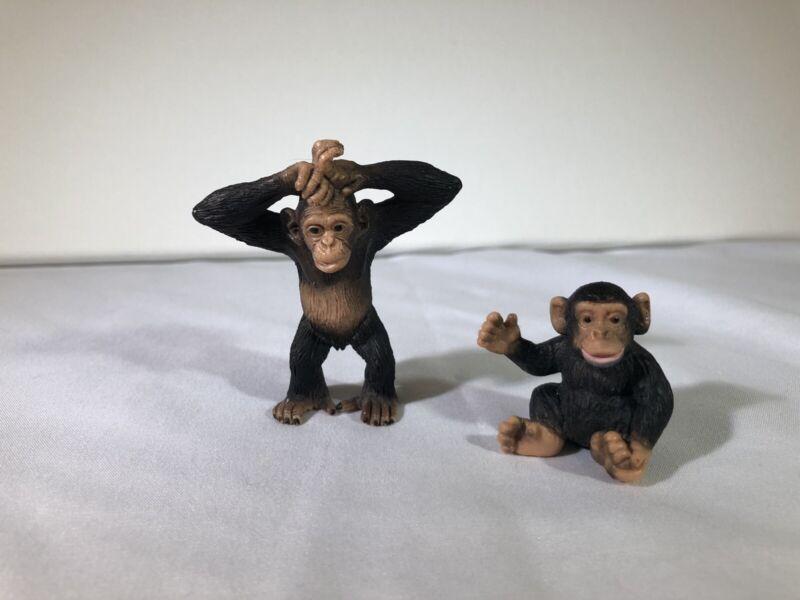 Schleich Retired Chimpanzee 73527 & Baby 14192
