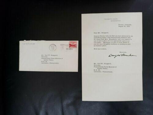 Superb President Dwight Eisenhower 100% hand signed 1955 White House Letter