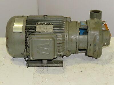 Goulds Pump 2npt In 1-12npt Out Brass Impeller Wwwe5-36-184jm 5hp Motor