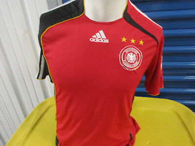 VINTAGE ADIDAS GERMANY NATIONAL FOOTBALL MENS TEAM SMALL SEWN JERSEY 2005/07 KIT image