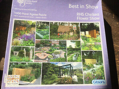 New 1000 PIECE JIGSAW PUZZLE RHS CHELSEA FLOWER SHOW BEST IN SHOW