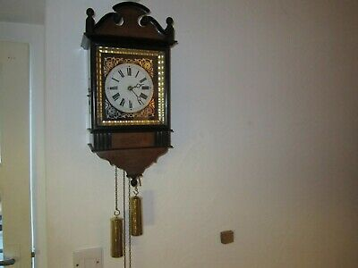 ANTIQUE EARLY BLACK FOREST WALL CLOCK IN V.G.W.O.(1850's)