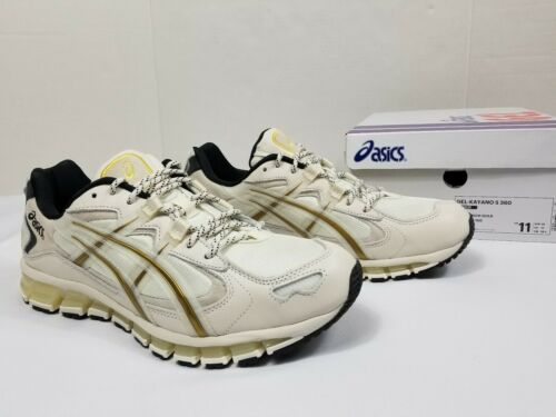 Asics Tiger Gel Kayano 5 360 Mens Sz 11 Cream Rich Gold Running Sneaker New DS