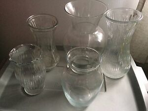 Glass Vases and Dried Flowers