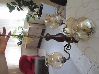 Deckenleuchter, Deckenlampe, 3armiger alter Leuchter