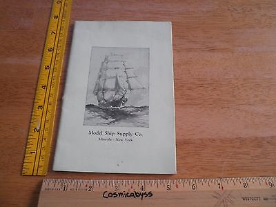 1920s Model Ship building Supply Company catalog New York 31 pgs VINTAGE - 31 Party Catalog
