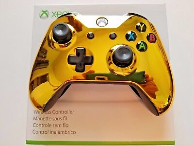 Xbox One S Wireless Microsoft Controller CHROME GOLD Type NEW with Bluetooth