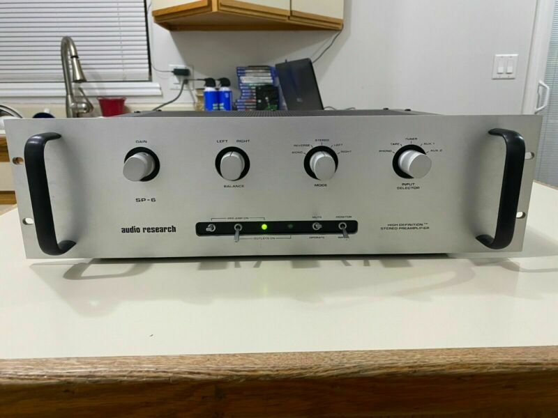 Audio Research SP-6B Full Tube Preamp Fully Recapped W Telenfunken Tubes