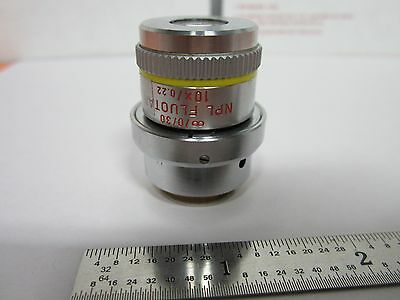 Microscope Objective Leitz Npl 10x Fluotar Dic Infinity Optics Bina1-m-33