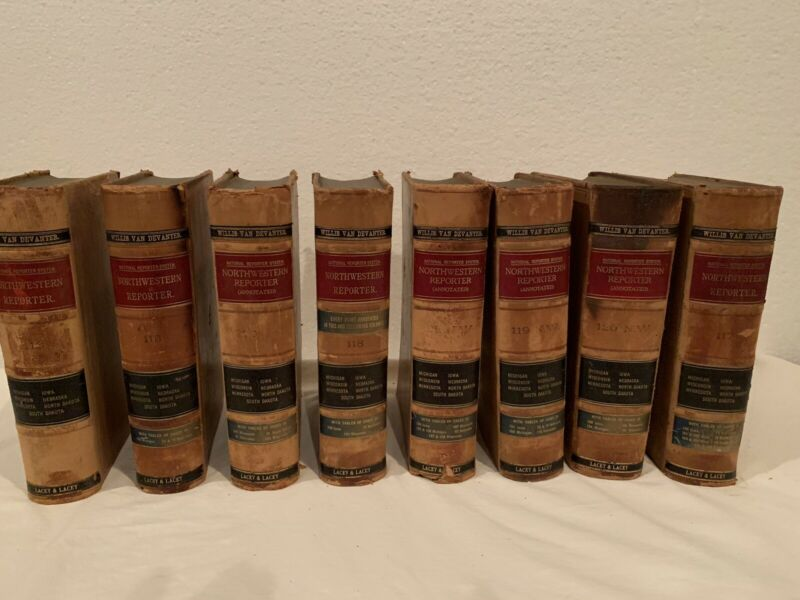 Antique Law Books Leather Bound Northwestern Reporter Lot of 8  Early 1900