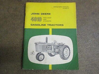 John Deere 4010 Tractor Owners Maintenance Manual
