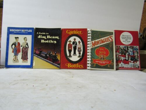 5 Books On Decanters Montagues #1 & #2, Jim Beam, Bischoff and Garnier