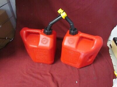 Vintage Blitz pre ban 2 gallon 8 ounce gas cans lot of 2
